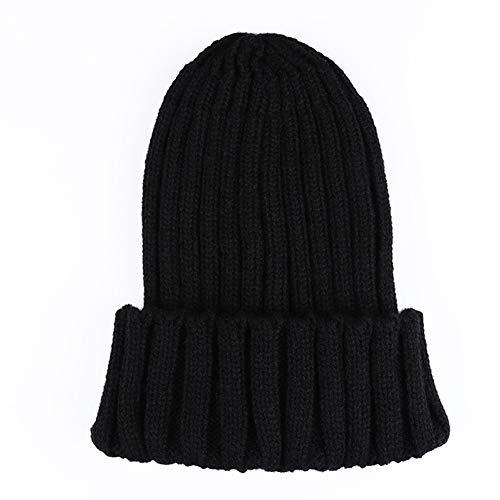 WGFGQX Unisexo Otoño E Invierno Sombrero Tejido, Color Caramelo Fluorescente Sombrero Cálido,Lightpurple Black