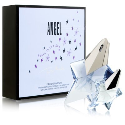 Angel by Thierry Mugler for Women 2 Piece Set Includes: 0.8 oz Eau de Parfum + 0.17 oz Miniature Collectible Eau de Parfum ( Stars in the Sky Edition (0.17 Ounce Miniature Collectible)