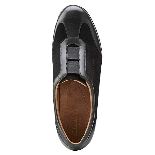 Clarks Petula Viola plana Black Suede/Leather