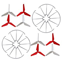 sea jump RC accessories Spare parts 3-blade 3-leaf Upgrade Propellers & Prop Guards for Syma X5C-1 X5C X5S X5SC X5W X5SW JJRC H5C Skytech M68R Quadcopter