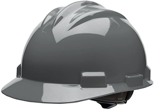 Bullard 61DGR  Standard Series Cap Style Hard Hat, 4 Point Suspension Ratchet, Cotton Brow Pad,  Dove Grey, One Size