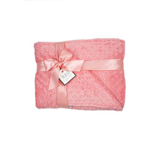 Cloth Chenille Cloth Burp - MEG Original Coral Minky Dot Baby Girl Crib/Nursery Blanket