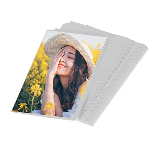 100sheets Liwute 4x6in 200gsm Both Sides Semi-glossy Laser Printing Photo Paper, Suitable for Printing Photos/Invitations/Brochure/Flyers/Postcards/Index cards/Cardstock/Coupons/Cover stock