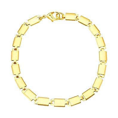 Buy Shining Jewel 24k Gold Link Bracelet For Men And Women Sj 3102