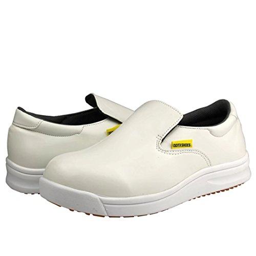 Work Oil Resistant White Slip DDTX Shoes Slip Mens on and White Black tPwxqZE0q