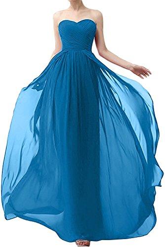 Jugendweihe Rot Brautjungfernkleider Blau Herrlich La Linie Ballkleider Abendkleider Braut mia Chiffon A Rock Lang Kleider C4tF48qa