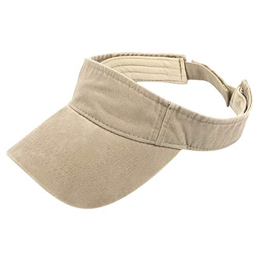 (Naiflowers Unisex Sun Hat Spring Summer Beach Hat Bucket Cap Fisherman Flat Cap Outdoor Popular Beach Visor Hat (Khaki))