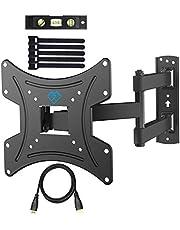 Soporte de Pared para TV 13¨-42¨ - Girar, Inclinar, Extender y Retraer - Montaje Televisor Sólido Carga hasta 35kg - Mejor Ángulo de Visión - Máx. VESA 200x200mm - con Cable HDMI y Nivel de Burbuja