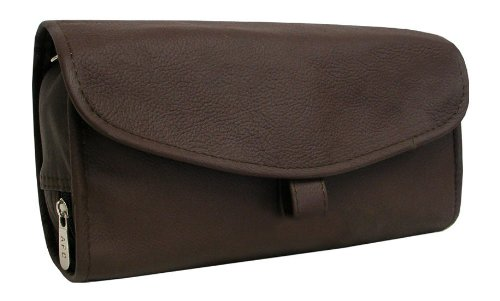 Amerileather Leather Toiletry Bag Brown - 7