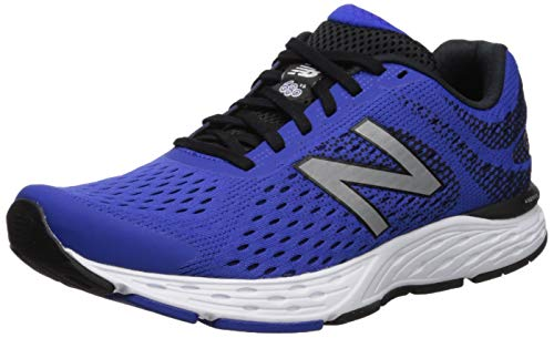 New Balance Men's 680v6 Cushioning Running Shoe, uv Blue/Bla