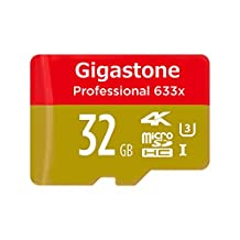 Gigastone Pro 32GB Micro SD Card U3 4K up to 95MB/s Memory + SD Card Adapter [Professional MicroSD for 4K UHD Video Recording, DSLR, GoPro Camera, Drone, Samsung Galaxy Android Phone Tablet, PC MAC]