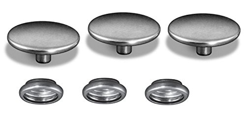 Socket Female 5/8 (50 Piece 100% Stainless Steel Snap Fastener, Cap & Socket Only, Marine Grade, 5/8