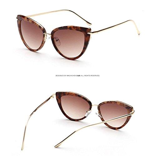 Gafas gato polarizadas Gafas Ojo Street de de Fashion de beat Mujer Alger sol metal conducción UV400 gFpwx71vq