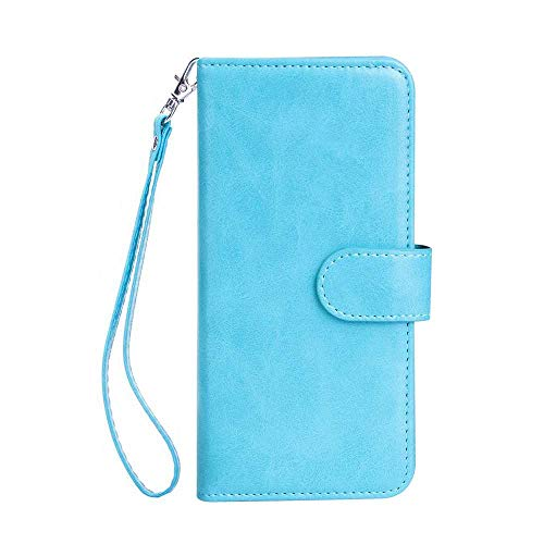 (Galaxy A5 2016 Case, Bear Village Premium PU Leather Stand Wallet Case 9 Card Slots Cover with Magnetic Clasp and Wrist Strap for Samsung Galaxy A5 2016 (#4 Blue))