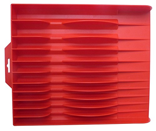 Tool Sorter Pliers Organizer Red - Holds up to 11 Tools - Made in the USA