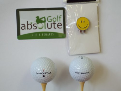 48 Noodle Mix Golf Balls Grade AAA & Free Magnetic Smiley Face Golf Ball Marker/Hat Clip ($6.99 Retail Value) (Noodle Maxfli Aaa)
