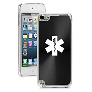 Apple iPod Touch 5th Generation Hard Back Case Cover Star of Life EMT (Black)