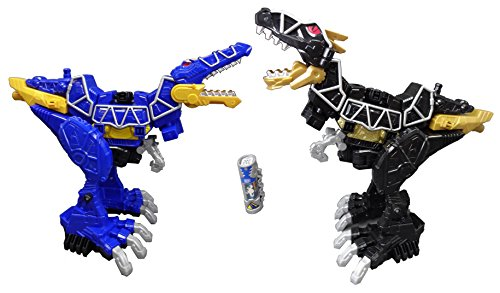 Mighty Morphin Power Rangers MMPR Dino Charge Mega 2 Pack Spino Zord & T-Rex Zord (Power Rangers Mighty Morphin Zords)