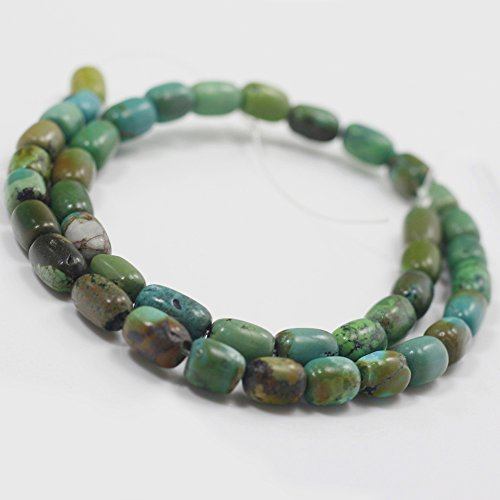 Natural Turquoise Barrel Beads 15