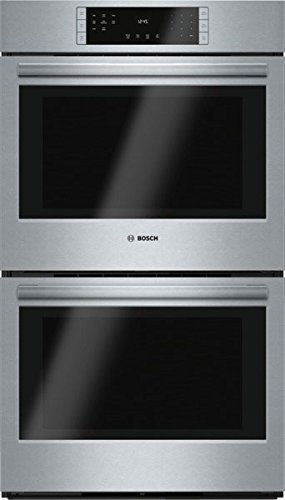 Bosch HBL8651UC 800 30″ Stainless Steel Electric Double Wall Oven – Convection