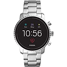 Fossil Men's Gen 4 Explorist HR Stainless Steel Touchscreen Smartwatch, Color: Silver (Model: FTW4011)
