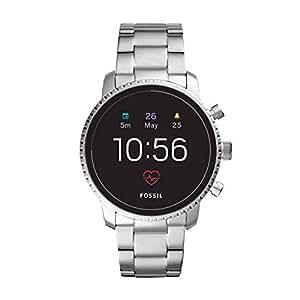 Fossil Men's Gen 4 Explorist HR Heart Rate Stainless Steel Touchscreen Smartwatch, Color: Silver (Model: FTW4011)