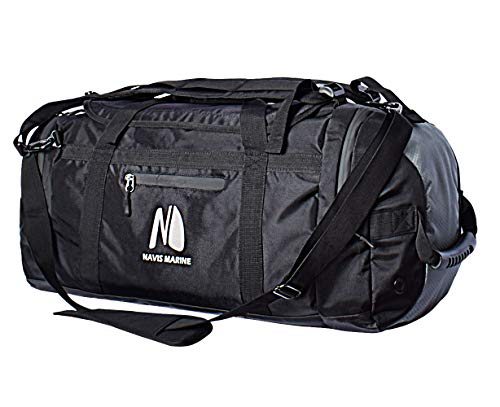 (Duffel Dry Bags Waterproof for Sailing Backpack Boating Luggage Team Bag 50-litres (Black/Gray))