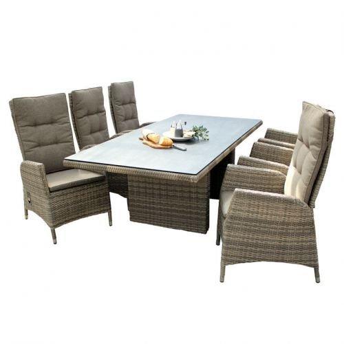 geflechttisch padua in hellbraun und bronze ca 220x100 cm gartentisch gartenm bel aluminium. Black Bedroom Furniture Sets. Home Design Ideas