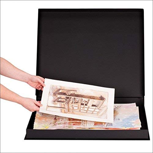 HG Concepts Art Photo Storage Box Eternity Archival Clamshell Box for Storing Artwork, Photos & Documents Deluxe Acid-Free Sturdy & Lined with Archival Paper - [Black - 24'' x 32''] by HG Concepts (Image #2)