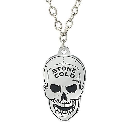 WWE Stone Cold Steve Austin Skull Pendant Black (Wwe Pendant)