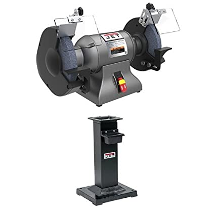Jet 578008 1 Hp 8 Industrial Bench Grinder With Dbg Stand For Ibg 8 10 12 Grinders