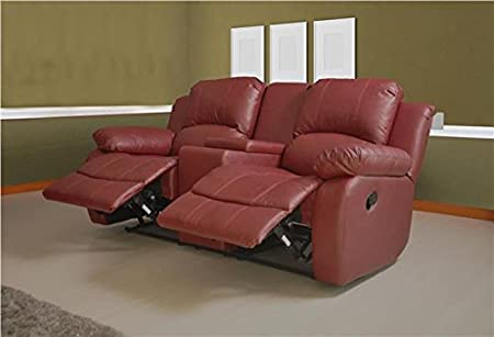 Red Leather Recliner Sofa Uk Brokeasshome Com