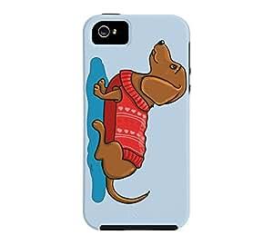 Dachshund Love iPhone 5/5s Beau blue Tough Phone Case - Design By Humans