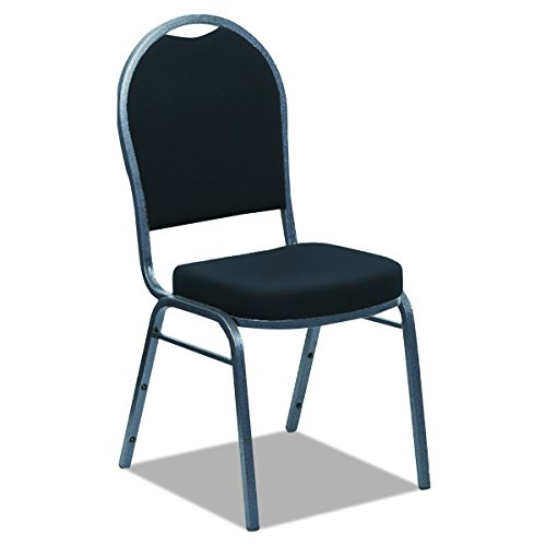 Iceberg 66222 Banquet Chairs (4-pack) Black/Silver with Dome Back