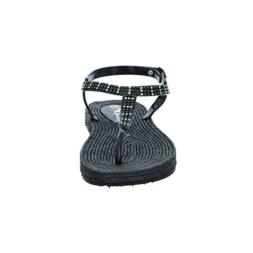 Pep Step 1004643 Damen Sandalette bis 30mm Absatz Black
