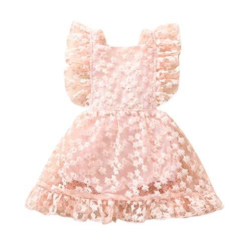 Amazon.com: Vestido de bebé para niña recién nacida, de ...
