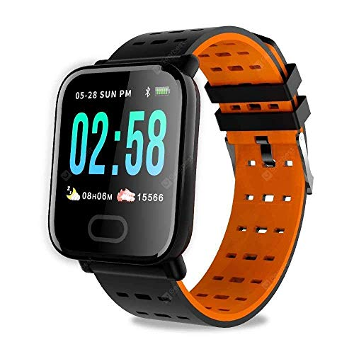 Ainsley A6 Bluetooth Smart Watch, Touchscreen Smart Wrist Watch Smartwatch Phone Fitness Tracker with SIM SD Card Camera Pedometer Compatible iOS iPhone Android for Men Women Boys Girls (Orange) Price & Reviews
