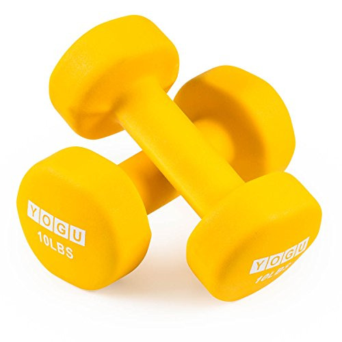 Neoprene Dumbbells Anti-Roll Hexagonal Dumb Bell Weights Compact and Color-Coded Non-Slip Grip for Men and Women Toning Cardio and Yoga Exercise Fitness Workout Dumbbell – Set Of 2 – DiZiSports Store