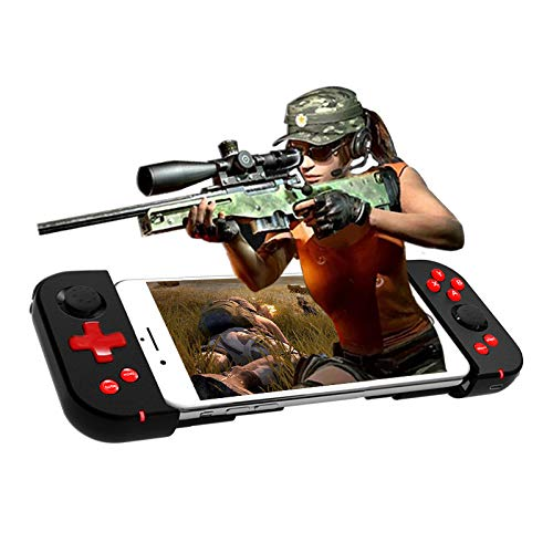 HDEIH9 X6 Pro Mobile Phone Bluetooth Wireless Game Controller for PUBG Honour of Kings Mobile Legends