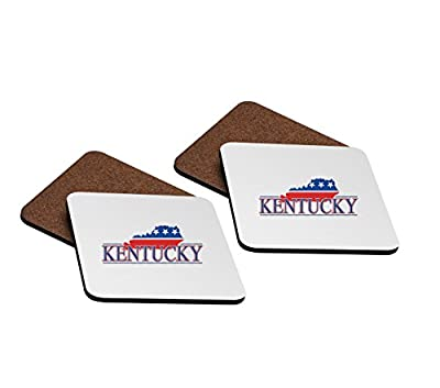 Kentucky 4''x4'' Hardboard Coasters - Set of 4