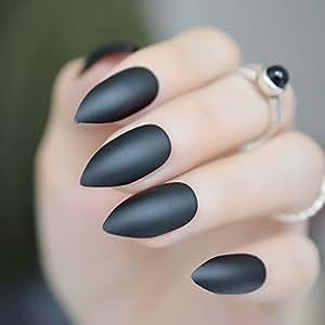 Amazon.com: coolnail nuevo puntiagudo esmerilado uñas ...