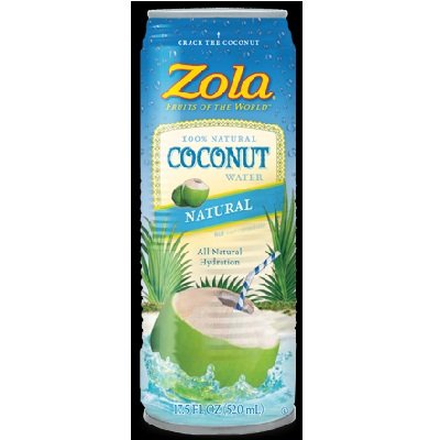 Zola Brazilian Fruits 100% Nat Coconut Water 48x 17.5OZ by Zola Brazilian Fruits