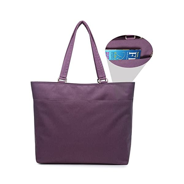 NNEE-12-123-Inch-Water-Resistance-Nylon-Laptop-Tote-Bag-Fits-up-to-129-iPad-Pro-123-Surface-Pro-Purple