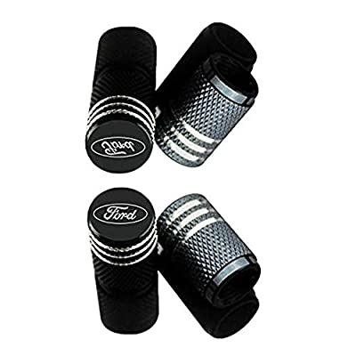 MARLBSTON 4pcs Car Tire Stem Valve Caps Wheel Tyre Dust Stems Cover Compatible with Cars, SUV, Truck, Motorcycles (Black): Automotive