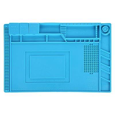 Eachway 17.7 x 11.8 inch Magnetic Project Mat Repair Mat Heat Insulation Silicone Pad Desk Mat for BGA Soldering Repair Station