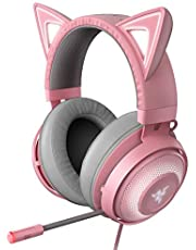 $126 » Razer Kraken Kitty RGB USB Gaming Headset: THX 7.1 Spatial Surround Sound - Chroma RGB Lighting - Retractable Active Noise Cancelling Mic - Lightweight Aluminum Frame - For PC - Quartz Pink
