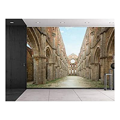 Path Leading to Ancient Ruins with Pillars Wall Mural, Top Quality Design, Wonderful Print