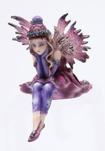 4 Inch Winter Wonderland Pink Fairy Sitters Statue -