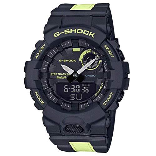 G-Shock GBA800LU-1A1 Men's Power Trainer Glow in The Dark Watch, Black, One Size