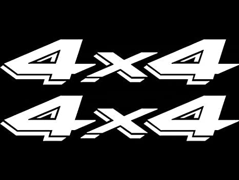 a3bef19269 Amazon.com  4X4 4 By 4 4 Wheel Drive Decal 2 PACK Vinyl Sticker